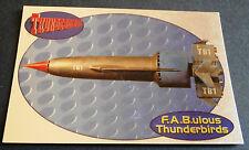 F.A.B.ULOUS THUNDERBIRDS F1 - THUNDERBIRD 1 - Cards Inc. ** Foil Chase Card