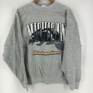 The Sweatshirt Company Crewneck Sweater Men's XL Gray Michigan Wolverines 1993