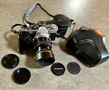 Vintage Olympus OM-2 Camera W/50mm f3.5 MACRO, Winder 2, & Accessories