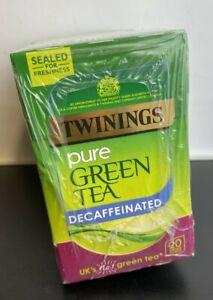80 x Twinings Green Tea Decaffeinated Teabags (4 Boxes)