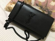 YSL Yves Saint Laurent Medium Kate Chain Shoulder Black Bag