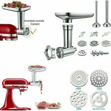 Metal Food Grinder Attachment for KitchenAid Stand Mixers Sausage Stuffer Tubes