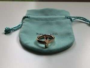 Tiffany & Co. 18K Rose Gold T1 Ring - 2.5MM Size 8.0