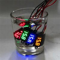 2x Mini DC 0-100V Voltmeter Red LED Panel 3-Digital Display Voltage Meter  TUO