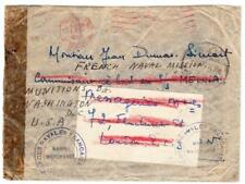 France WWII FREE FRENCH FORCES-LONDON ENGLAND 6/NOV/1943-TO COMMINSAIRE