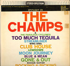 """THE CHAMPS / THE CYCLONES """"TOO MUCH TEQUILA"""" INSTRUMENTAL ROCK LP 1964"""