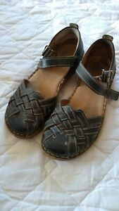 Josef Seibel Womens shoes, sandals size UK 4, EUR 37 Blue Leather.