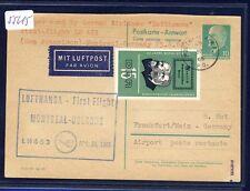 55615) LH FF Montreal - Köln 25.4.66, DDR GA-AK, Stpl. blau