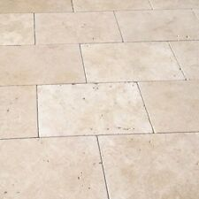Light Travertine Tumbled Paver Tile 610x406x30mm 406x406x30mm PREMIUM Quality