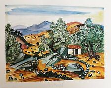 YVES BRAYER*ESTAMPE*FILITOSA*CORSE*ILE*BEAUTE*1978*ART*MUSEE*COLLECTOR*RARE*OR