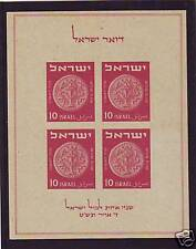 ISRAEL STAMPS 1949 TABUL EXBITION BLOCK M.N.H