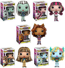 Funko POP! Television ~ MONSTER HIGH VINYL FIGURE SET (ALL 5) ~ Frankie, Cleo+++