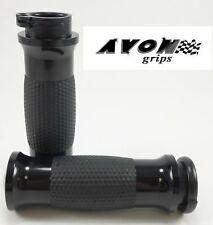 "Avon Black Gel Motorcycle Grips 1"" Handlebar Cruiser Bobber Harley Davidson"