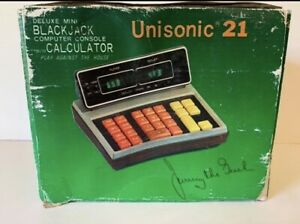 Unisonic 21 Calculator and Blackjack Jimmy The Greek