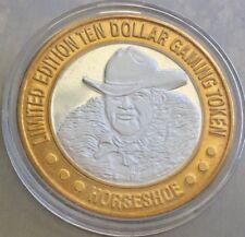 Horseshoe Las Vegas NV $10 Gaming Token.999 Silver Limited Edition Coin