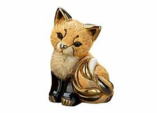 De Rosa Red Fox Cub Figurine