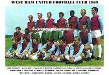 WEST HAM UNITED F.C.TEAM PRINT 1969