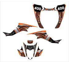 LTZ400 KFX 400 graphics sticker kit 2003-2008 sticker kit #7777 Orange