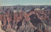 Linen Postcard A662 North Rim Grand Canyon National Park Arizona Union Pacific