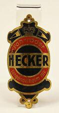 """Original Steuerkopfschild Emblem """"Fahrräder Hecker"""" Langenaltheim-Mittelfranken"""