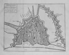 Antique map, Amsterdam zo als het na de vergrooting des jaars 1593