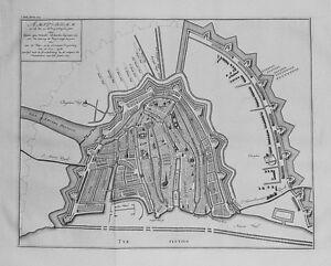 Antique map, Wagenaar, Amsterdam zo als het na de vergrooting des jaars 1593
