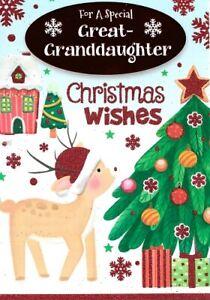 GREAT GRANDDAUGHTER CHRISTMAS CARD