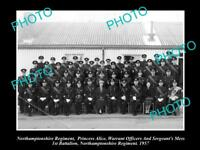 OLD HISTORIC MILITARY PHOTO OF NORTHAMPTONSHIRE REGIMENT 1st BATTALION 1957