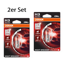 OSRAM h3 Nightbreaker Unlimited NIGHT BREAKER PLUS 110% 2er set 64151nbu