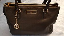 Women''s DKNY Genuine Soft Leather Black Handbag