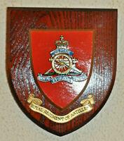 Royal Artillery regimental mess wall plaque shield RA