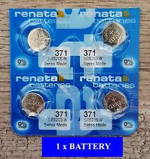 1 x Renata SR920SW SR920 371 Silver Oxide Watch Button Battery 1.55V Swiss Made