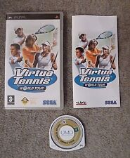 PSP PLAYSTATION VIRTUA TENNIS WORLD TOUR WITH BOOKLET