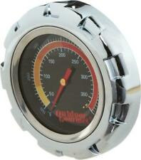"""Temperature Thermometer Gauge for Grill Smoker BBQ - 4"""" Stainless Steel Gourmet"""