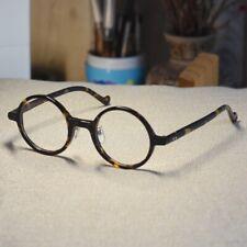 John Lennon eyeglasses round mens solid acetate dark tortoise glasses rx eyewear