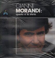 """GIANNI MORANDI - RARO 2 LP 33 GIRI CELOPHANATO """" QUESTA E' LA STORIA """""""