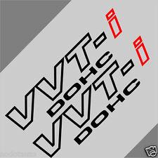 Car 11''  VVTI  VVT-I DOHC Lower Door Decals Vinyl Motor Stickers 2PCS SET CF716