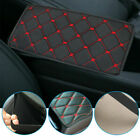 Red Accessories Car Armrest Pad Cover Center Console Box PU Leather Cushion Mat