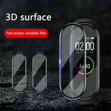 UK 3D Cover Tempered Glass Screen Protector HD For Xiaomi Mi Band 5 Smart Watch
