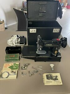 Singer 222K Featherweight Portable Sewing Machine 1957 Production Date.