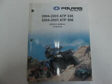 2004 2005 Polaris ATP 330 500 Service Manual W/CD STAINED FACTORY OEM DEALERSHIP