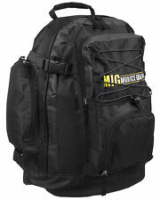 Mens Large Zipped Backpack Rucksack Bag HIKING SCHOOL WORK SPORTS - BLACK 105-R2
