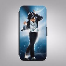 MICHAEL JACKSON KING LEATHER FLIP WALLET PHONE CASE COVER FOR IPHONE AND SAMSUNG