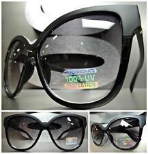 OVERSIZE VINTAGE RETRO CAT EYE Style SUN GLASSES Unique Large Matte Black Frame