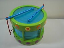 Step 2 Basic Rhythms 2-Sided Drum With Attached Drumsticks Toddler Toy RARE GUC