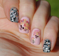 Nail Art Water Transfers Decals Stickers Decorations Cool Skull Flower