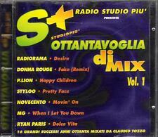 """RYAN PARIS  TOZZO  NOVECENTO  RADIORAMA - CD """" OTTANTA VOGLIA DI MIX 1 """" REMIXED"""