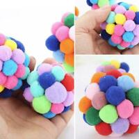 Pet Cat Toy Colorful Bell Bouncy Ball Built-In Catnip Interactive Toys 2019 T4M9
