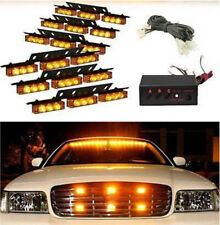 54 LED Auto LKW Dash Strobe Flashlight Blitzer Licht Lampen Warnleuchte Gelb 12V