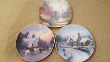Bradford Exchange Set Of 3 Thomas Kinkade Plates